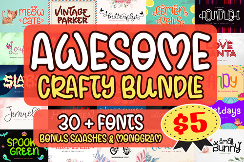 Awesome Crafty Font Bundle.jpg