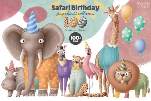 Safari birthday clipart.jpg